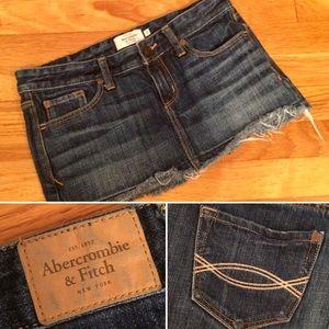 A&F Frayed Denim Skirt